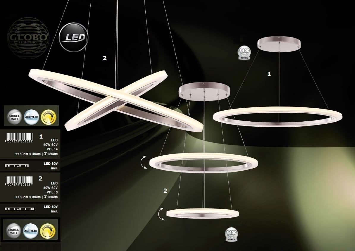 Globo Nowoczesna Lampa żyrandol Led 65103 40 Umbria Lagunalighting E