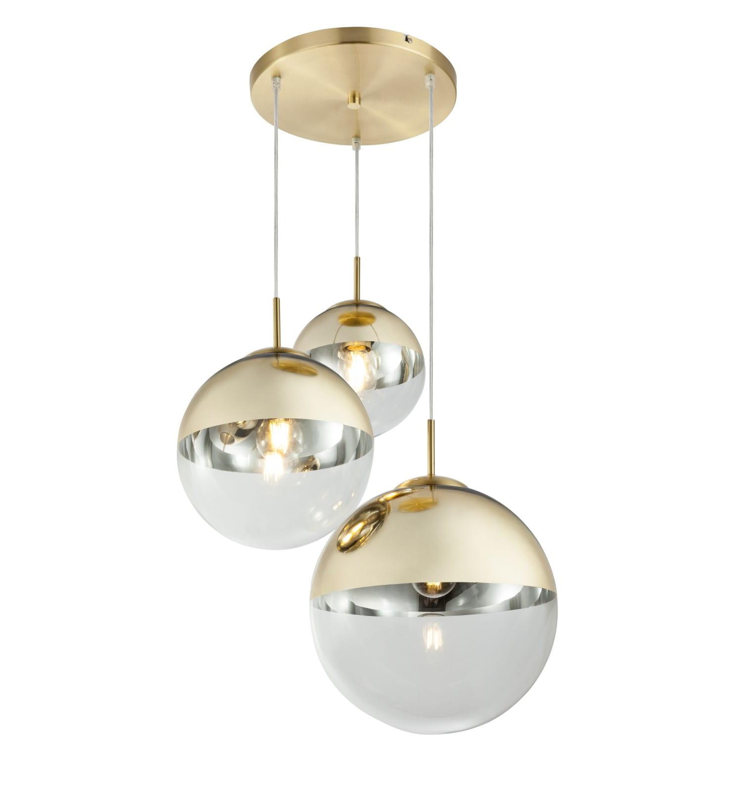 Globo Nowoczesna Lampa Wiszaca Kula Varus 15855 3 Gold Lagunalight E